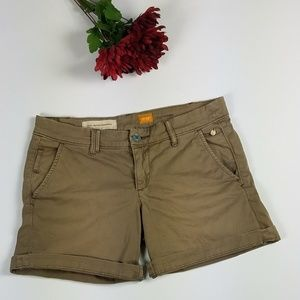 Pilcro & The Letterpress Anthro Tan Chino Shorts